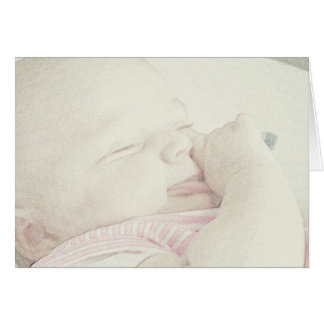 New baby here or on the way greeting card