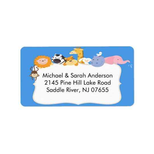 New Baby~ Jungle Animals Return Address Label