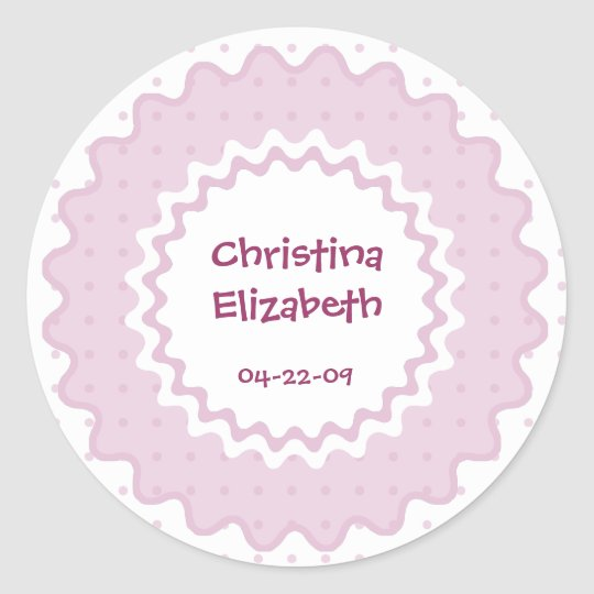 New Baby Name, Date of Birth Sticker -