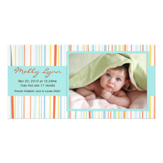 New Baby Photo Announcement Card Custom Photo Card