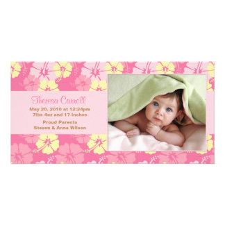 New Baby Photo Announcement Card Photo Greeting Card