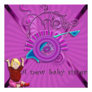New baby sister invite