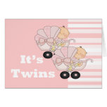 New Baby Twin Girls Cards