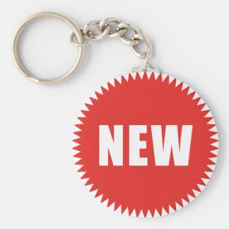 new basic round button key ring