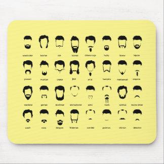 New Beard Chart Mouse Pad