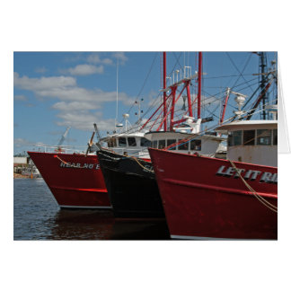 New Bedford Fishing Boats greeting card