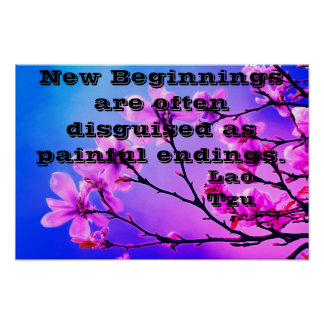 New Beginnings Motivational Poster