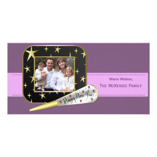 New Beginnings (Plum) Personalized Photo Card