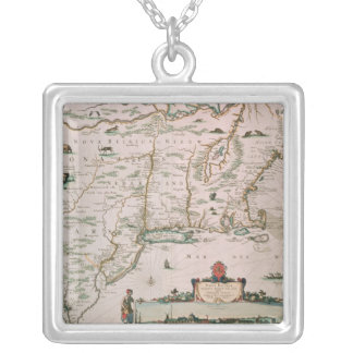 New Belgium, plate from 'Atlas Contractus' c.1671 Silver Plated Necklace