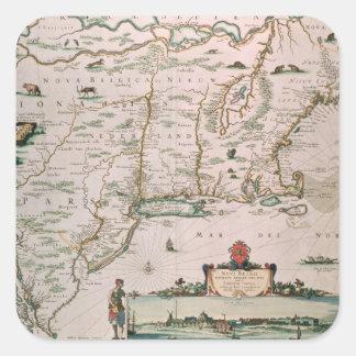 New Belgium, plate from 'Atlas Contractus' c.1671 Square Sticker