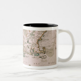 New Belgium, plate from 'Atlas Contractus' c.1671 Two-Tone Coffee Mug
