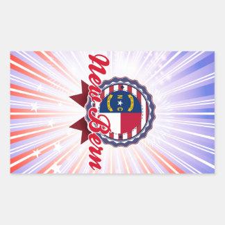 New Bern, NC Rectangle Stickers