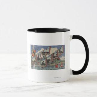 New Bern, North Carolina - Large Letter Scenes Mug