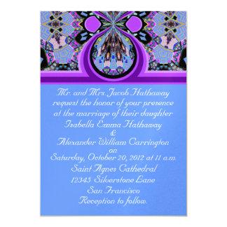 New Blue & Purple Ice Wedding Invitation Cards