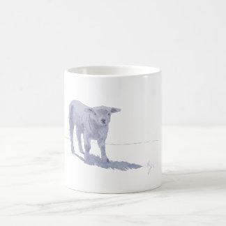 New born lamb pencil sketch mugs