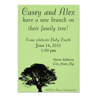 New Branch on the Family Tree Baby Shower Invite