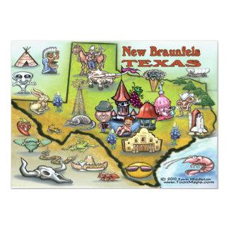 New Braunfels TEXAS Map Card 13 Cm X 18 Cm Invitation Card