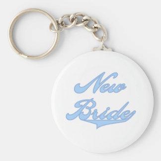 New Bride Blue Keychain
