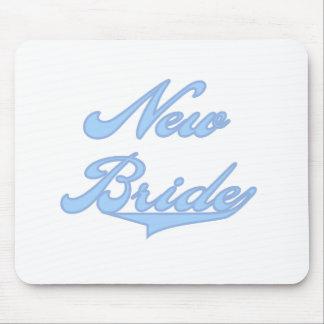 New Bride Blue Mouse Pad