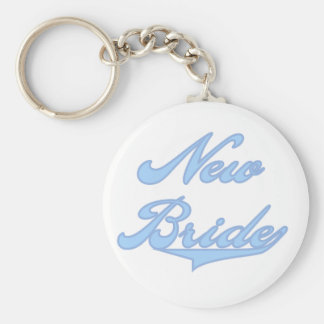 New Bride Blue T-shirts and Gifts Key Chain