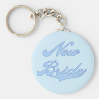 New Bride Blue T-shirts and Gifts Keychains