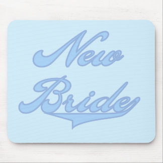 New Bride Blue T-shirts and Gifts Mousepads