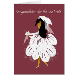 New bride greeting card