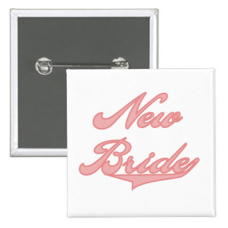 New Bride Pink Tshirts and Gifts Buttons