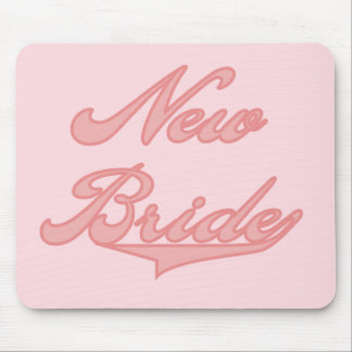 New Bride Pink Tshirts and Gifts Mousepads