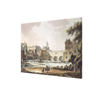 New Bridge, from 'Bath Illustrated by a Series of Canvas Print
