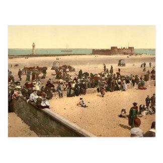 New Brighton Beach, Liverpool, Merseyside, England Postcard