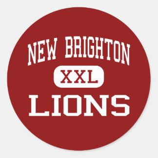 New Brighton - Lions - Area - New Brighton Classic Round Sticker
