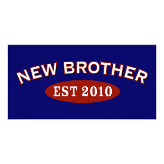 New Brother Est 2010 Personalized Photo Card