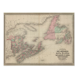 New Brunswick and Nova Scotia Poster