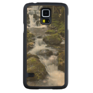 New Brunswick, Canada. Dickson Falls in Fundy Carved Maple Galaxy S5 Case