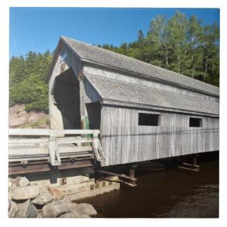 New Brunswick, Canada. Irish River covered Large Square Tile