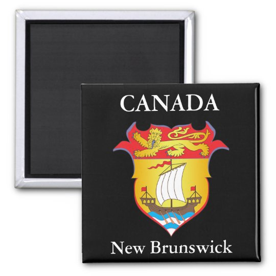 New Brunswick coat of arms Square Magnet