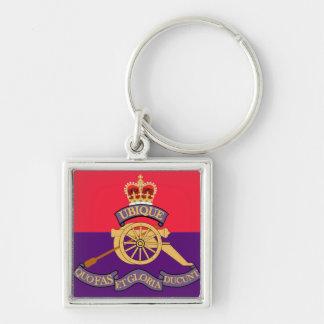 New Brunswick Field Artillery Crest Silver-Colored Square Key Ring