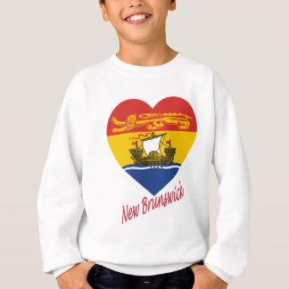 New Brunswick Flag Heart with Name Sweatshirt