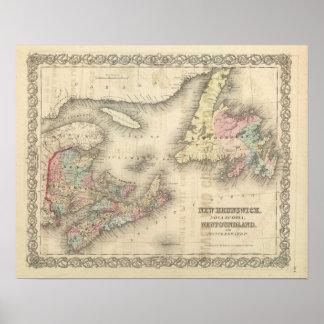 New Brunswick, Nova Scotia, Newfoundland 2 Poster