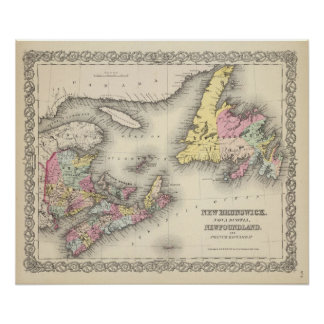 New Brunswick, Nova Scotia, Newfoundland Poster