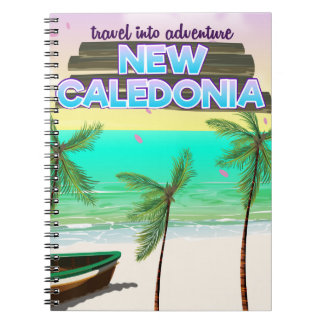 "New Caledon ""travel into adventure"" travel poster. Notebooks"