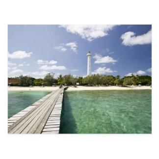 New Caledonia, Amedee Islet. Amedee Islet Pier. Postcard