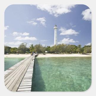 New Caledonia, Amedee Islet. Amedee Islet Pier. Square Sticker