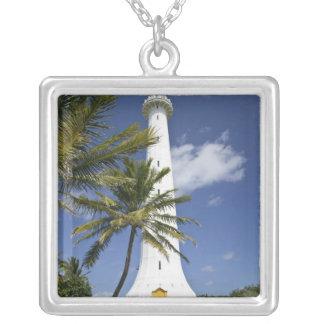 New Caledonia, Amedee Islet. Amedee Islet Square Pendant Necklace
