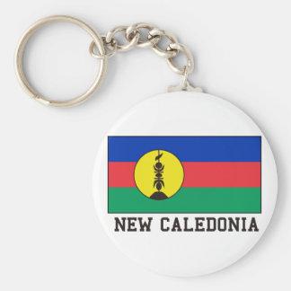 New Caledonia Basic Round Button Key Ring