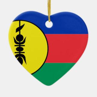 New Caledonia Ceramic Heart Decoration