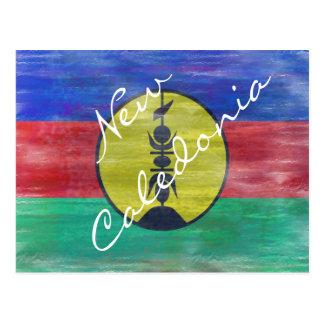 New Caledonia distressed New Caledonian flag Postcard