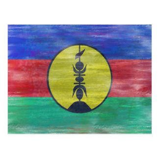 New Caledonia distressed New Caledonian flag Postcard