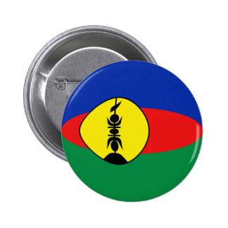 New Caledonia Fisheye Flag Button